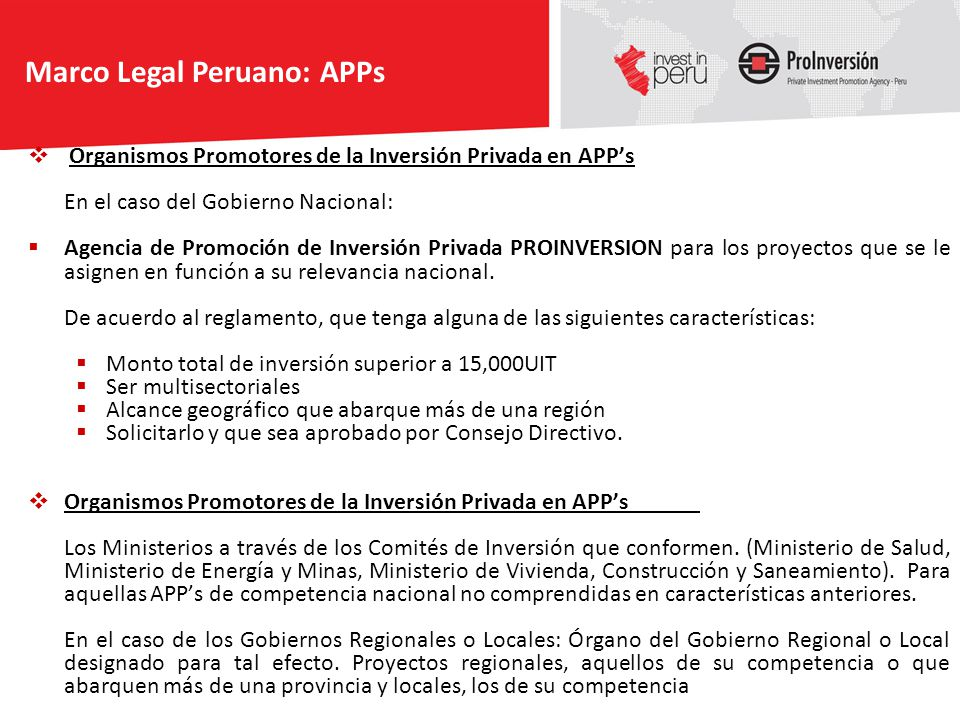 Marco Legal Peruano: APPs