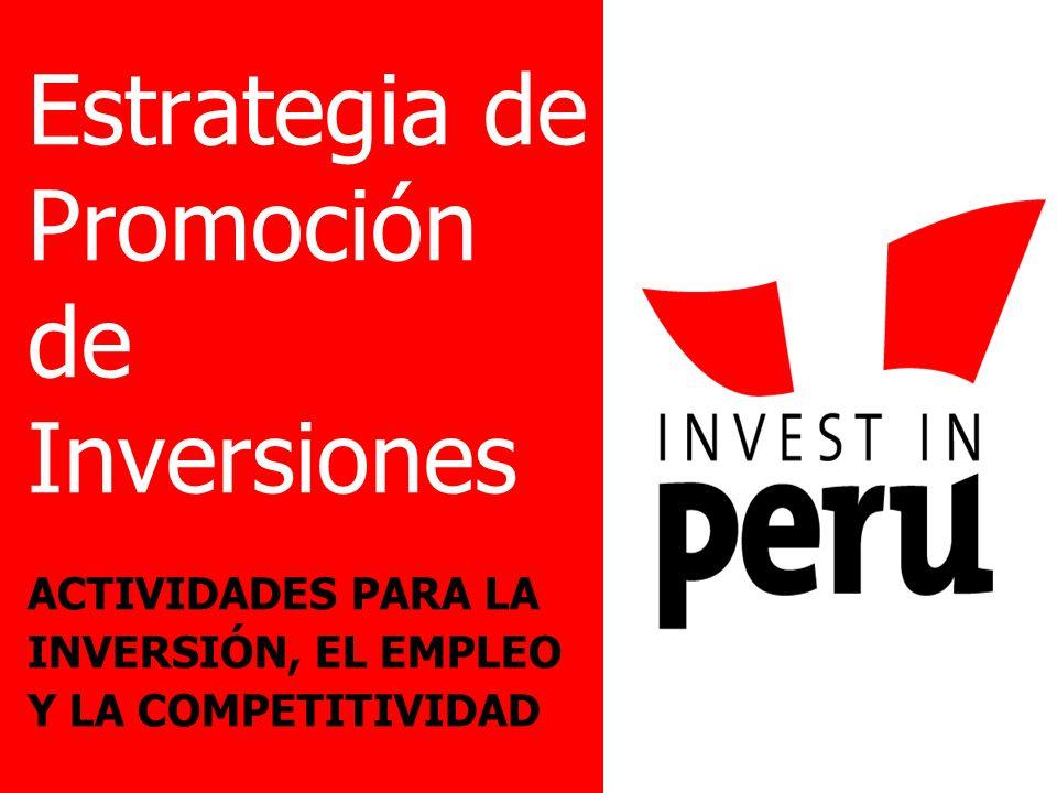 Estrategia de Promoción de Inversiones