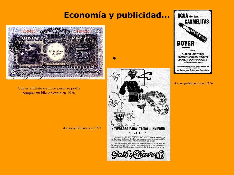 Economía y publicidad... Aviso publicado en 1924