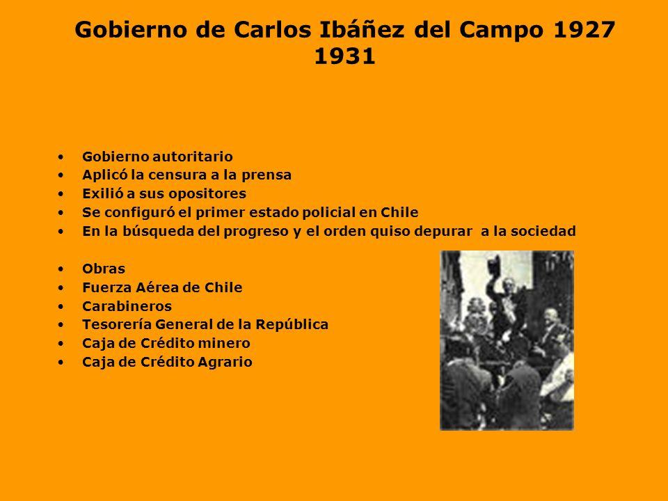Gobierno de Carlos Ibáñez del Campo 1927 1931