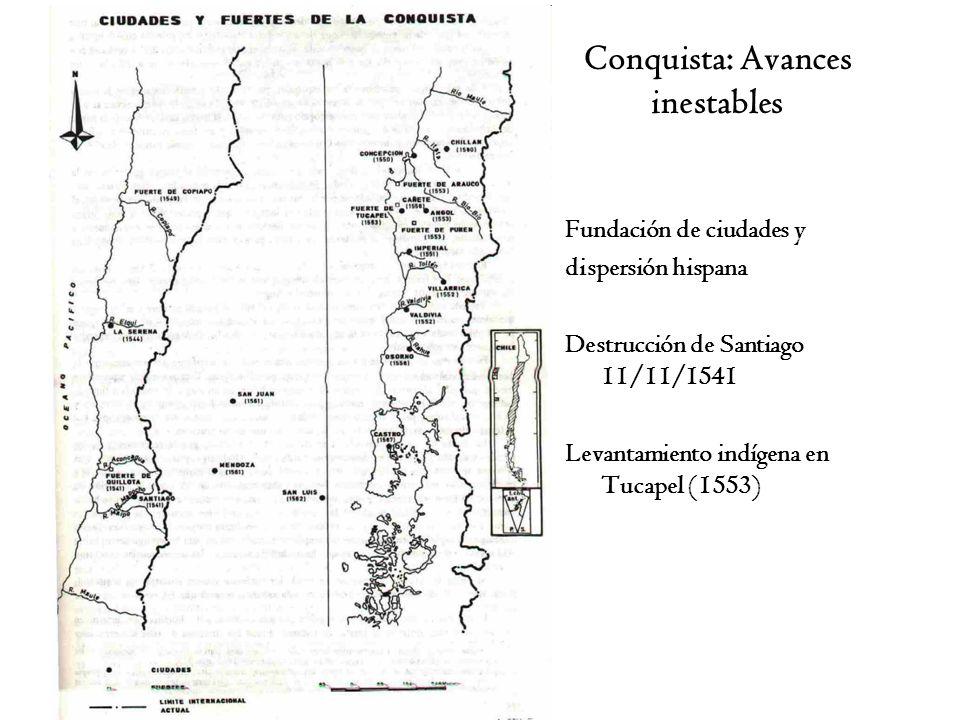 Conquista: Avances inestables