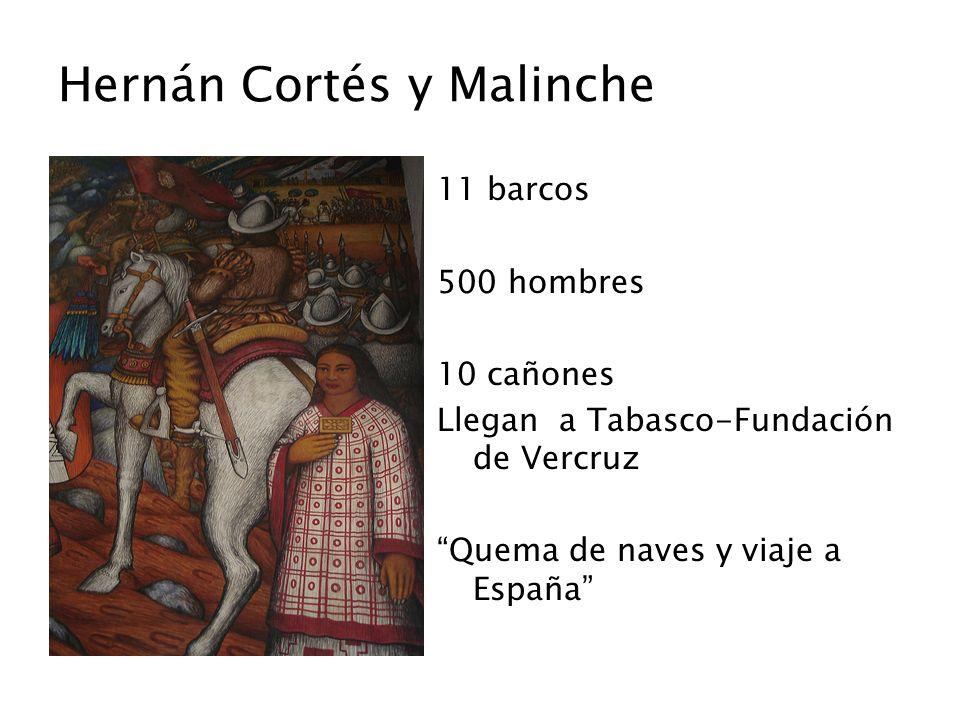 Hernán Cortés y Malinche