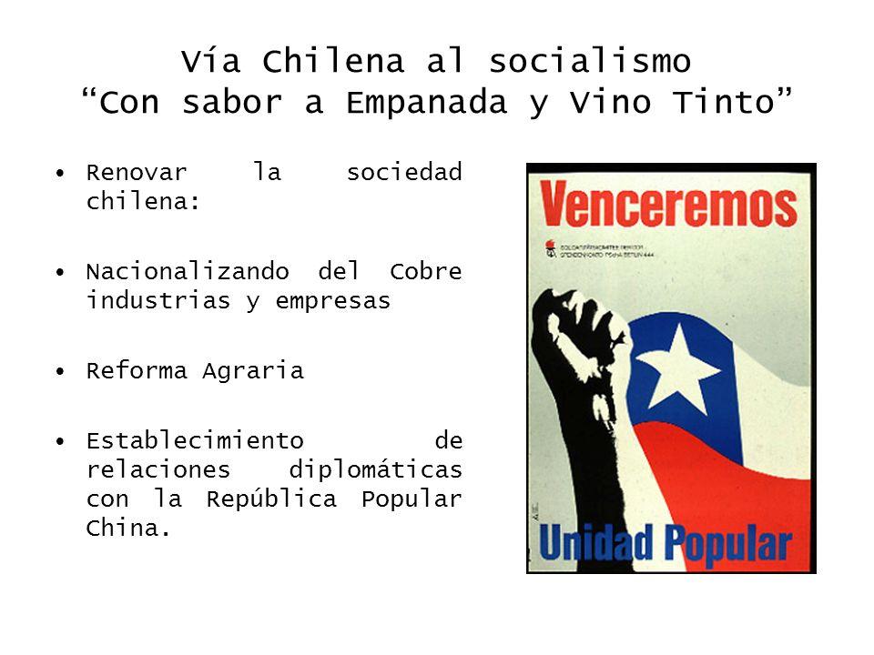 Vía Chilena al socialismo Con sabor a Empanada y Vino Tinto