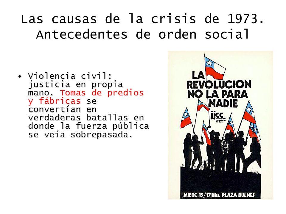 Las causas de la crisis de 1973. Antecedentes de orden social