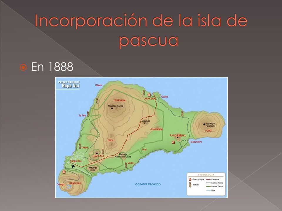 Incorporación de la isla de pascua