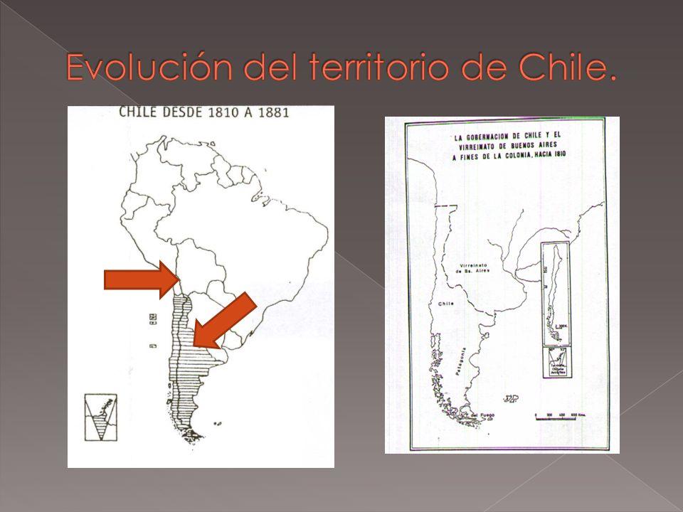 Evolución del territorio de Chile.