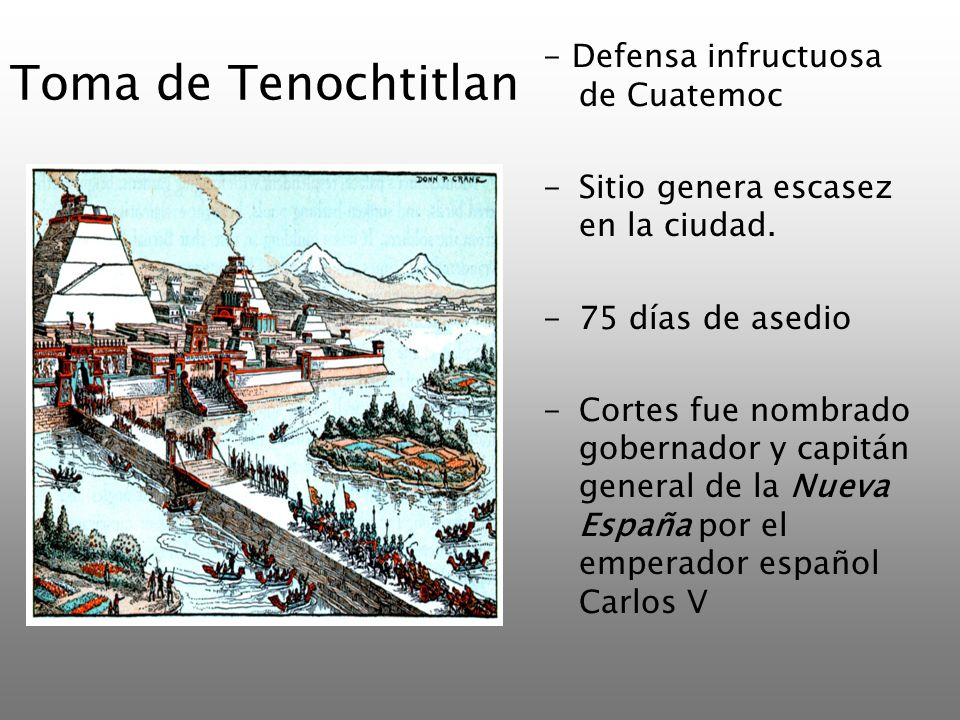 Toma de Tenochtitlan - Defensa infructuosa de Cuatemoc
