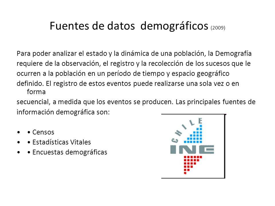 Fuentes de datos demográficos (2009)