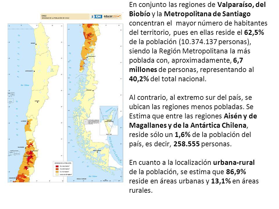En conjunto las regiones de Valparaíso, del