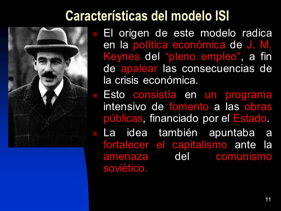 Características del modelo ISI