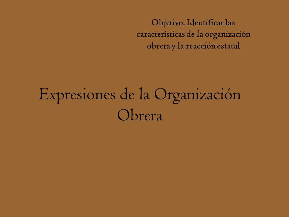 Expresiones de la Organización Obrera