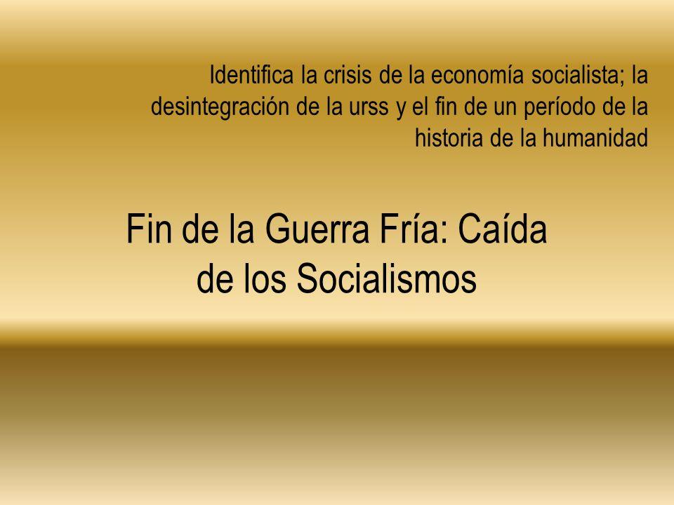 Fin de la Guerra Fría: Caída de los Socialismos