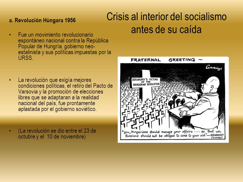 Crisis al interior del socialismo antes de su caída