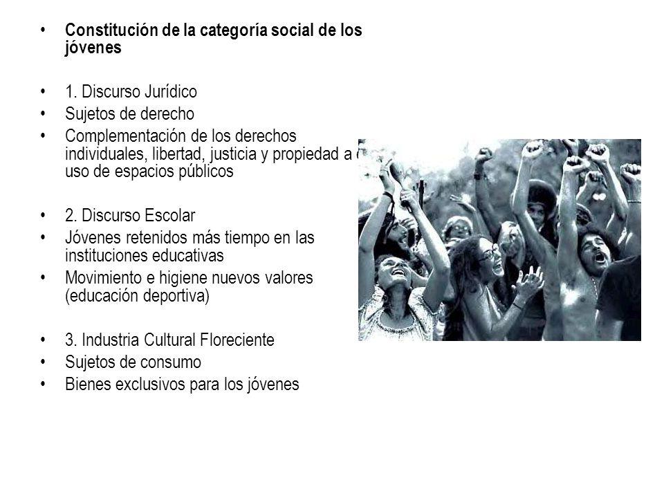 Constitución de la categoría social de los jóvenes