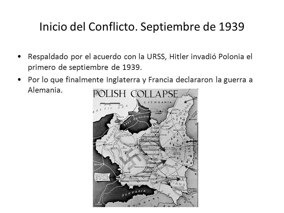 Inicio del Conflicto. Septiembre de 1939