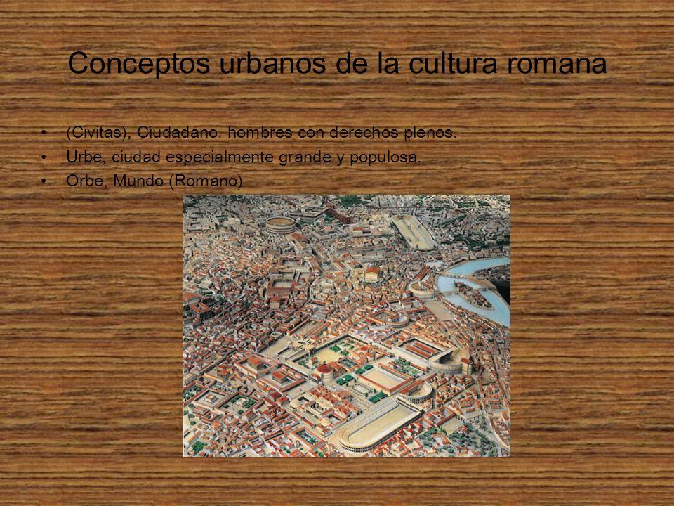 Conceptos urbanos de la cultura romana