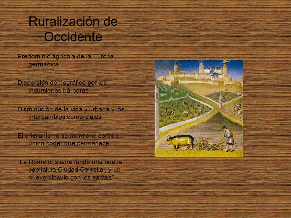Ruralización de Occidente