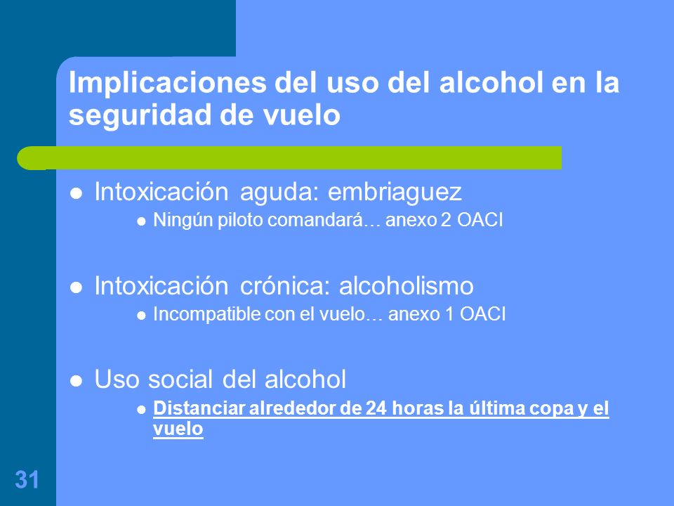 Implicaciones del uso del alcohol en la seguridad de vuelo