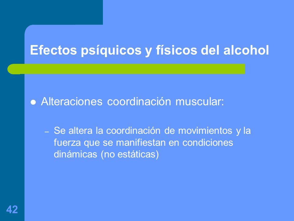 Efectos psíquicos y físicos del alcohol