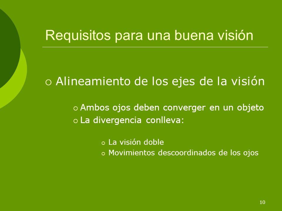 Requisitos para una buena visión