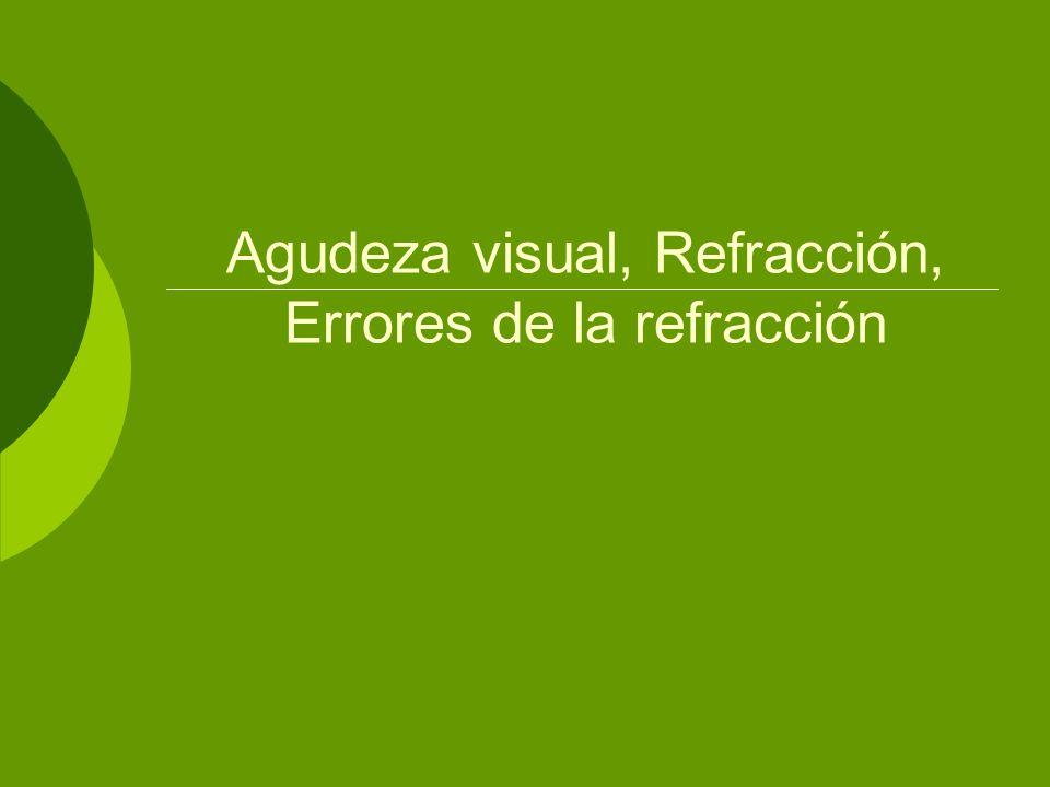 Agudeza visual, Refracción, Errores de la refracción