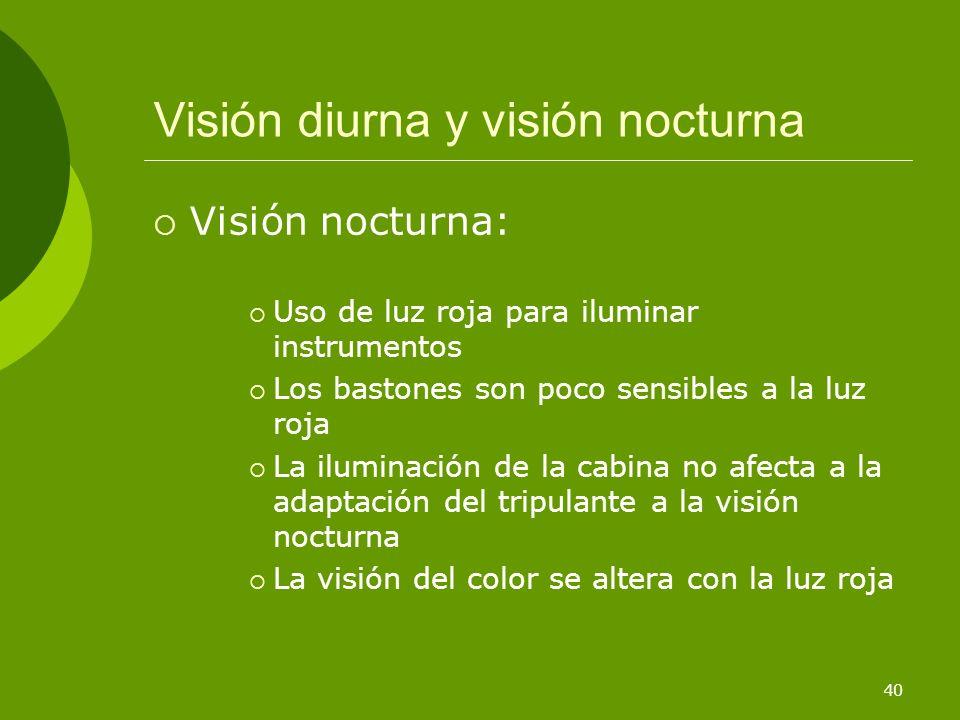 Visión diurna y visión nocturna