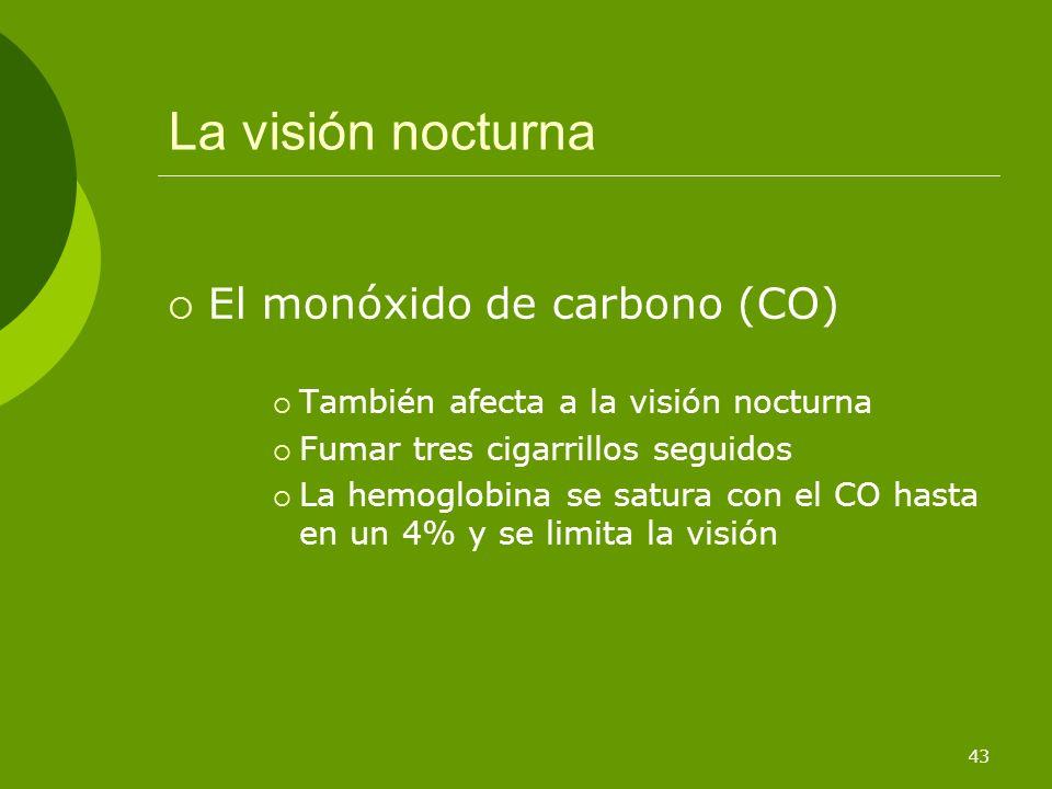 La visión nocturna El monóxido de carbono (CO)