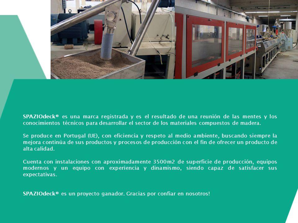 SPAZIOdeck® es una marca registrada y es el resultado de una reunión de las mentes y los conocimientos técnicos para desarrollar el sector de los materiales compuestos de madera.