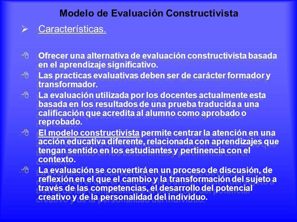 Modelo de Evaluación Constructivista