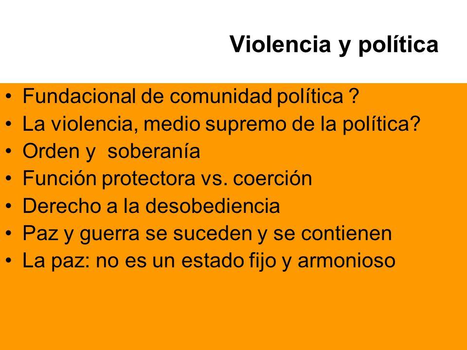 Violencia y política Fundacional de comunidad política