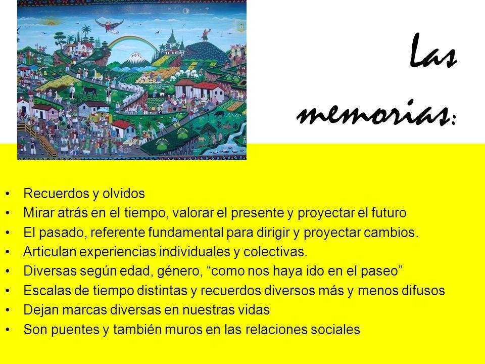Las memorias: Recuerdos y olvidos