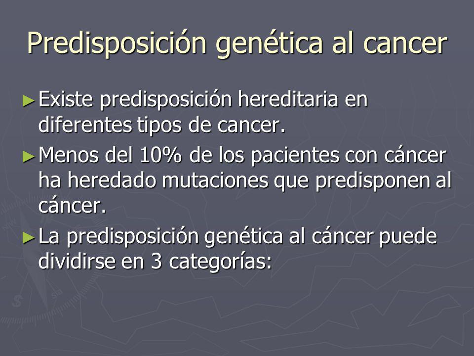 Predisposición genética al cancer