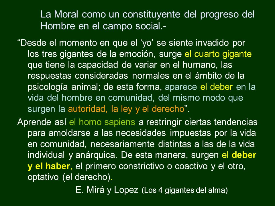 La Moral como un constituyente del progreso del