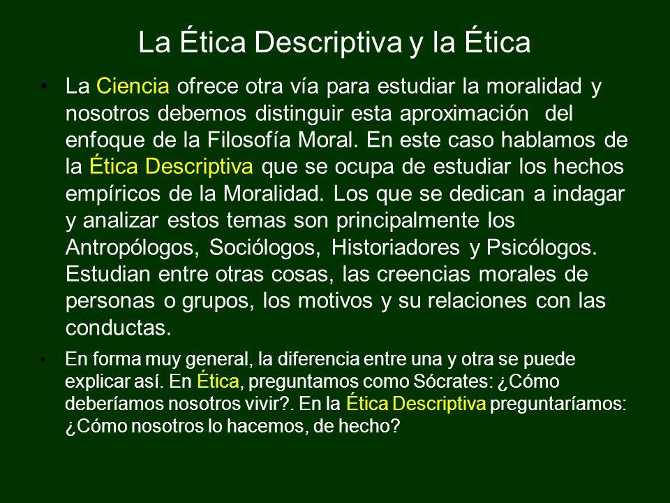 La Ética Descriptiva y la Ética