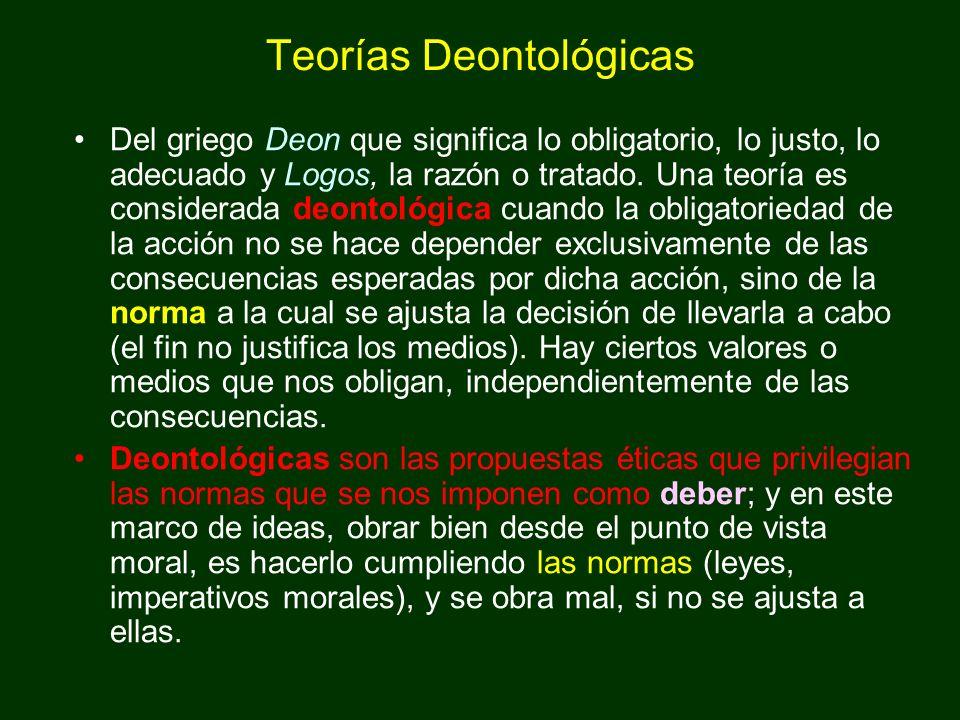 Teorías Deontológicas