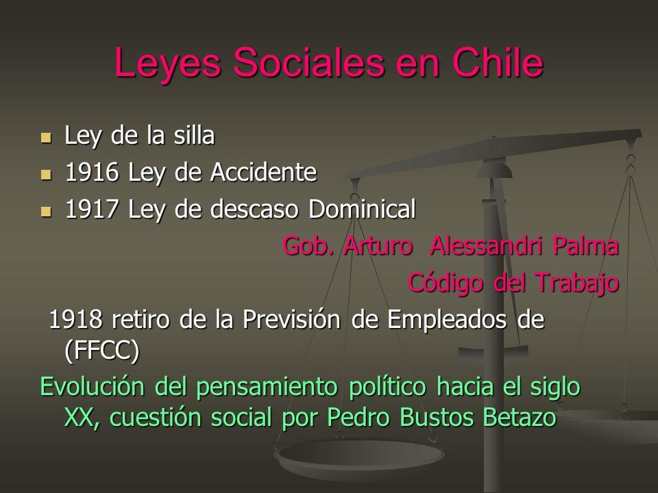 Leyes Sociales en Chile