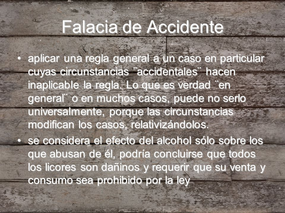 Falacia de Accidente