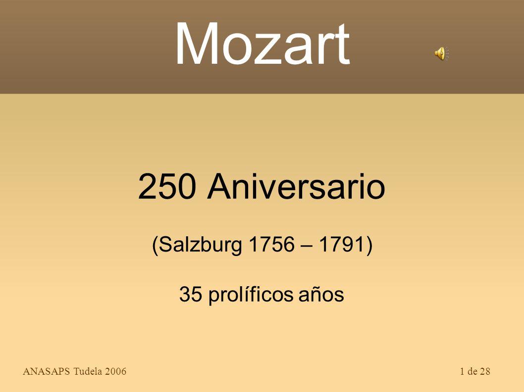 250 Aniversario (Salzburg 1756 – 1791) 35 prolíficos años