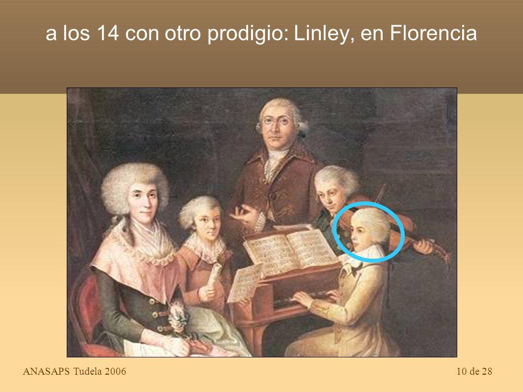 a los 14 con otro prodigio: Linley, en Florencia