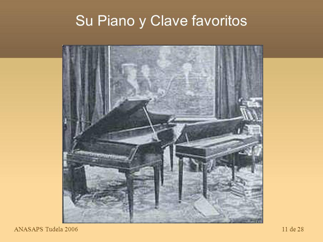 Su Piano y Clave favoritos