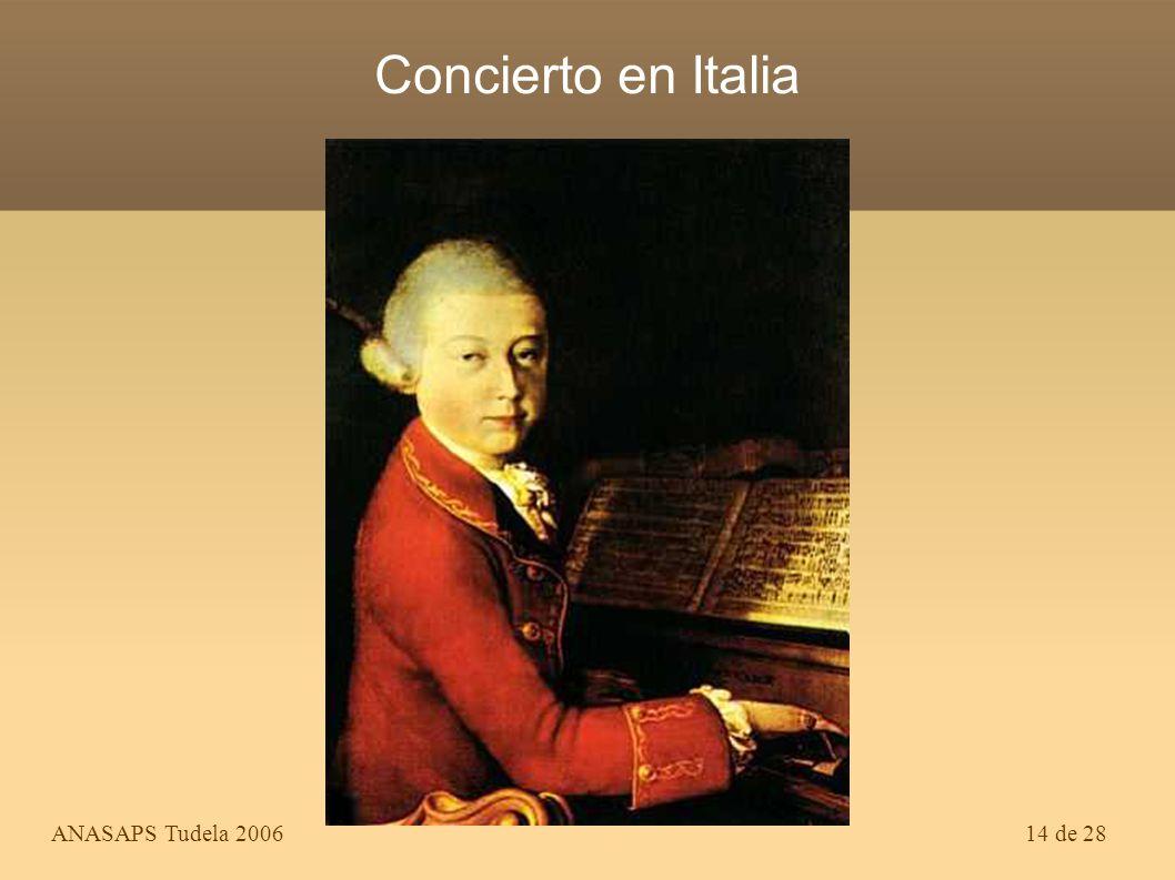 Concierto en Italia ANASAPS Tudela 2006
