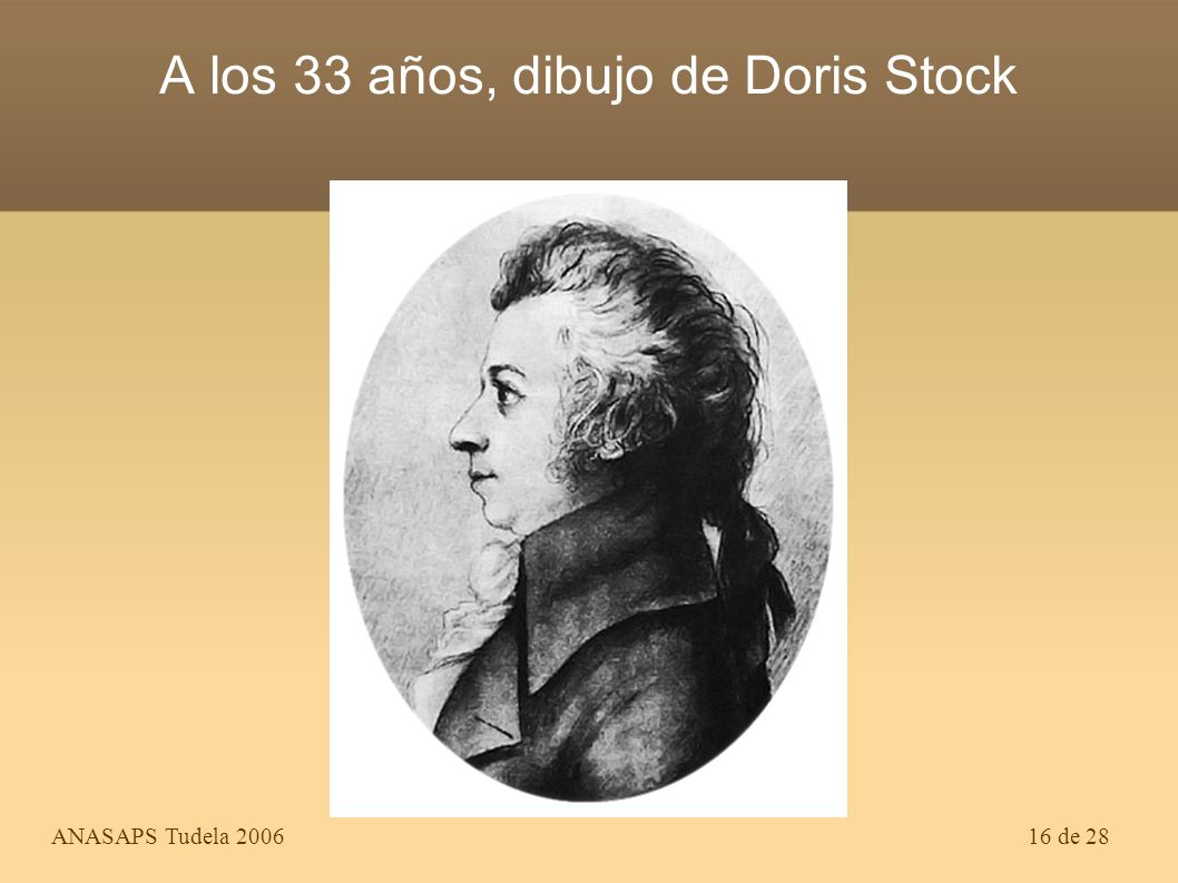A los 33 años, dibujo de Doris Stock