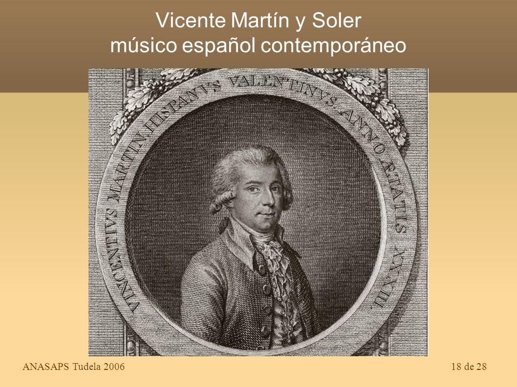 Vicente Martín y Soler músico español contemporáneo