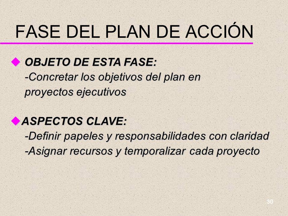 FASE DEL PLAN DE ACCIÓN OBJETO DE ESTA FASE: