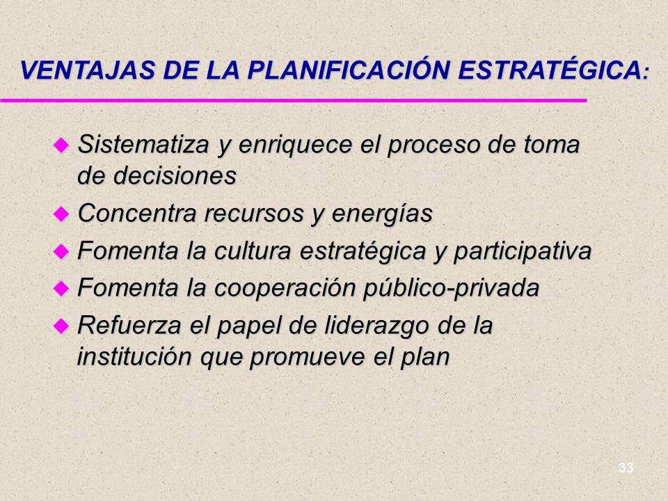 VENTAJAS DE LA PLANIFICACIÓN ESTRATÉGICA: