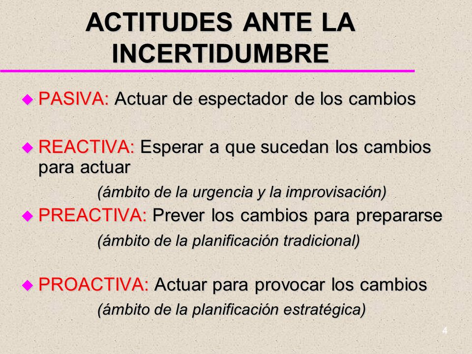 ACTITUDES ANTE LA INCERTIDUMBRE