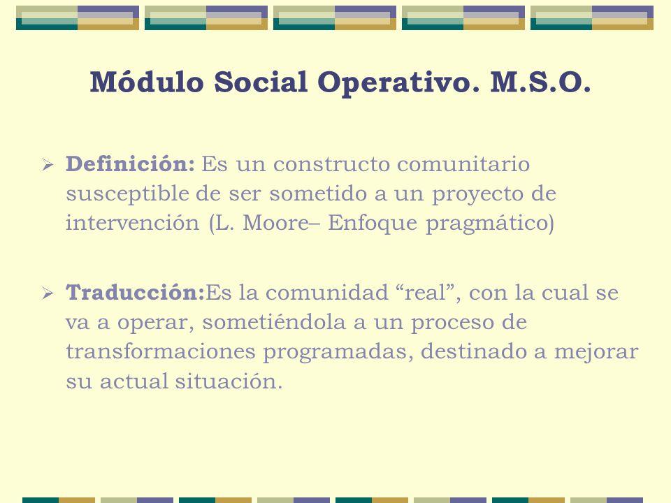 Módulo Social Operativo. M.S.O.