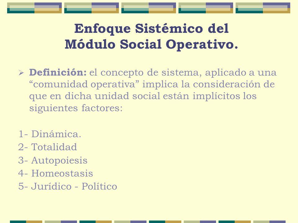 Enfoque Sistémico del Módulo Social Operativo.