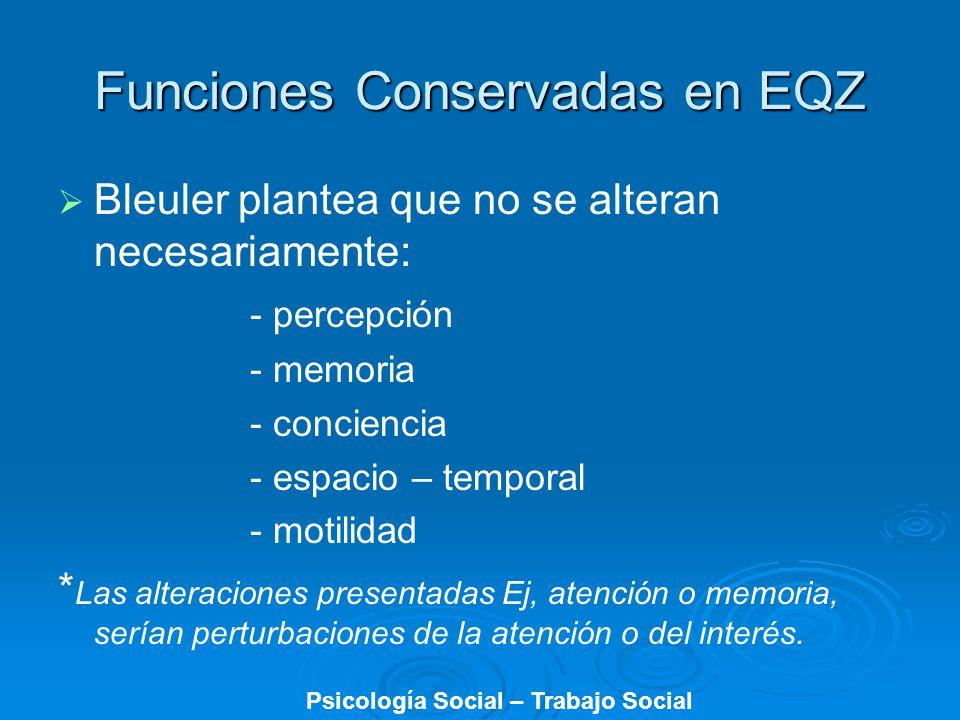 Funciones Conservadas en EQZ