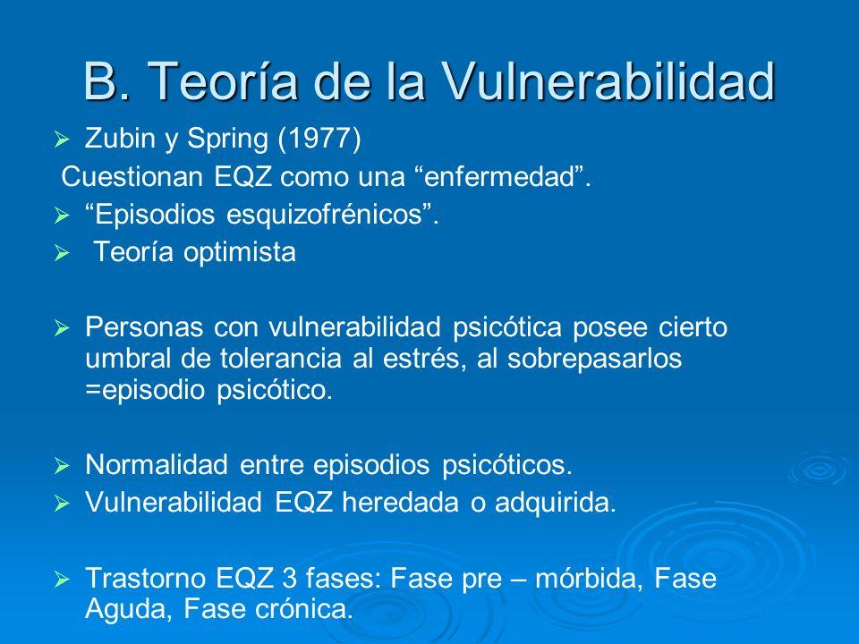 B. Teoría de la Vulnerabilidad